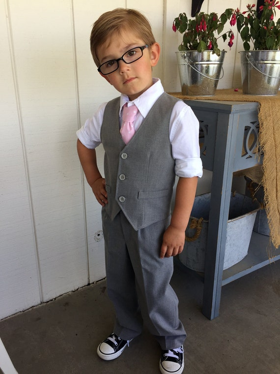Boys Vest And Pants Grey Toddler
