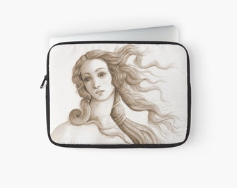 "Macbook 15"" Pro Retina laptop sleeve - face of a goddess sepia"