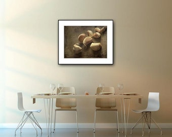 Kitchen Artwork Garlic Photograph, Kitchen Wall Decor, Farmhouse Kitchen Decor, Rustic Wall Art Print, Home Decor Print