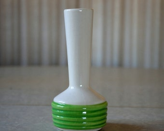 Haeger Bud Vase, No. 280, White and Green