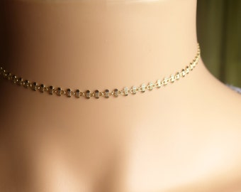 Choker, silver chain choker necklace,gold chain choker necklace,gift idea,birthday present