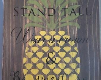 Pineapple sign-pineapple decor