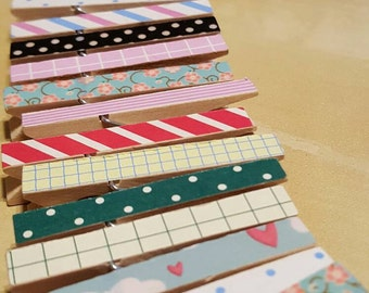 Additional Individual Clothespins for Picture Collage Clothesline