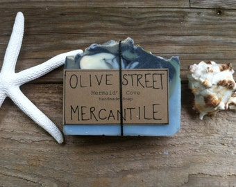 Mermaid Bar Soap, Ylang Ylang/Grapefruit/Tuberose Olive Oil and Tallow Soap Bar, Natural Soap, chemical free, gentle, palm oil free, gift