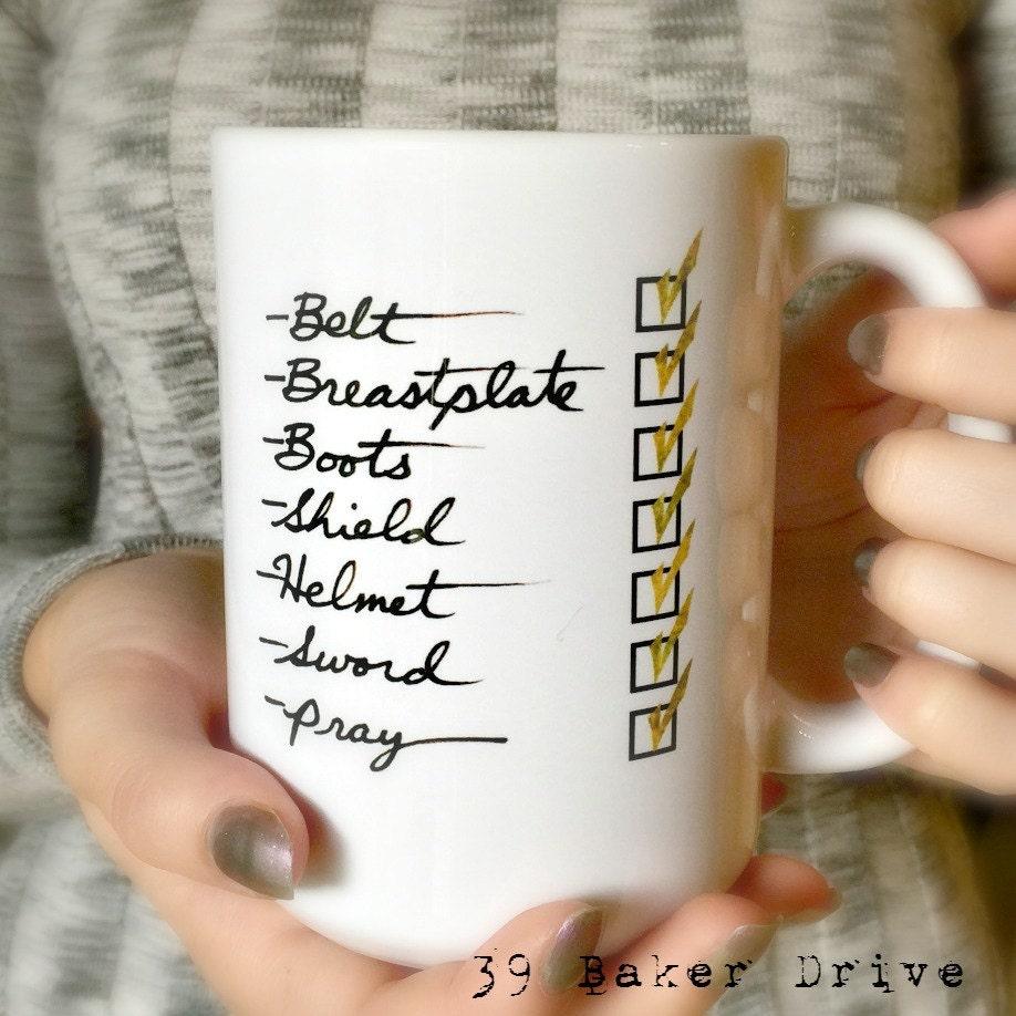 armor of god coffee mug custom mug ephesians 6 14 17