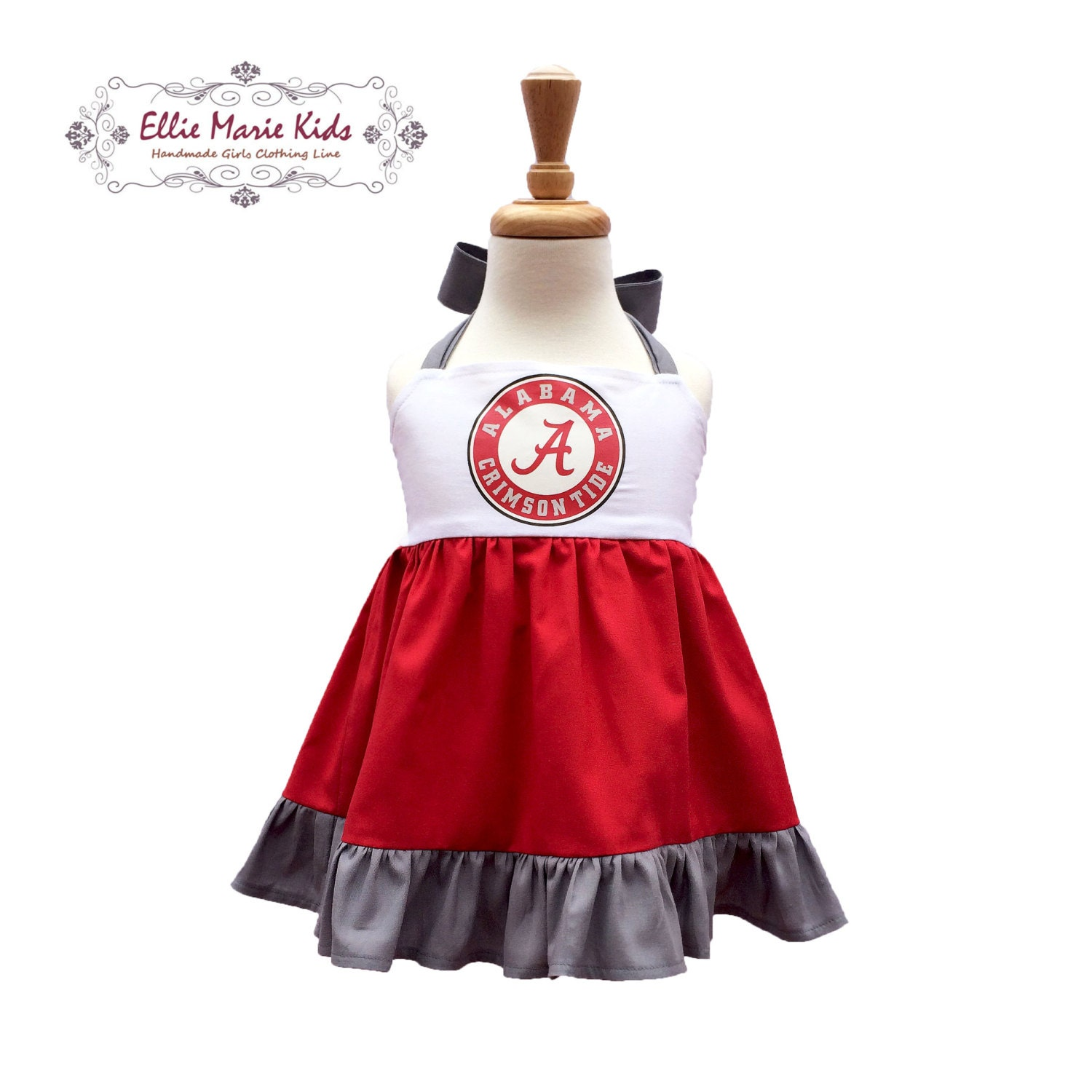 Girls Alabama Game Day Dress