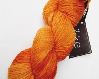 CARROT CAKE - 100% organic merino hand dyed, aran weight, cruelty free, orange