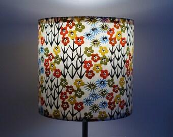 abat-jour en papier washi, fleurs des champs stylisées / lampshade, handmade quality washi paper, stylized wildflowers