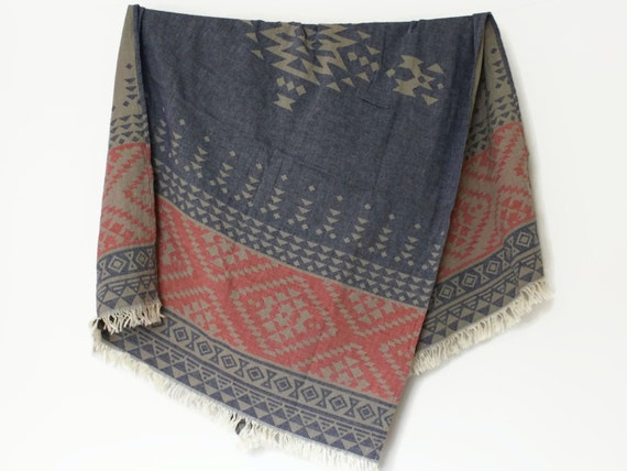 Geometric Beach Towel Bohemian Throw Blanket By Ontherainbow