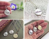 Sterling silver moon necklace, moon pendant, moon jewelry | solid sterling silver moon pendant, heirloom girl necklace | by Meluseena