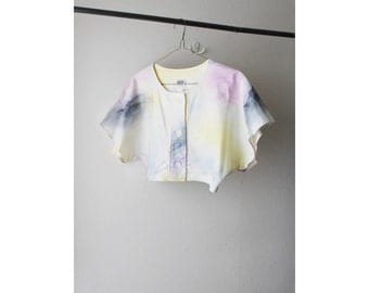 1980's Dyed Watercolor Cropped Top