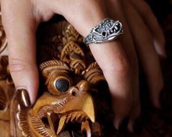 Garuda Bird Ring Silver Jewelry Buddhism Jewelry Silver Eagle Ring Bali Jewelry Eagle Ring Mythical Jewelry Mythological Creature Ring