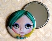 Blythe Doll - Pocket Mirror green pastel girl