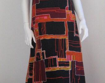 70s vintage  graphic dress