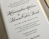 Wedding Invitation - Champagne - Gold - Elegant - Black Tie - Formal