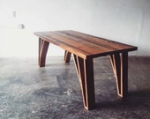 Reclaimed Wood Dining Table- Modern Industrial Desk- Reclaimed Barn Wood- Rustic Loft Furniture- Hairpin Inspired Table Legs- FREE SHIPPING