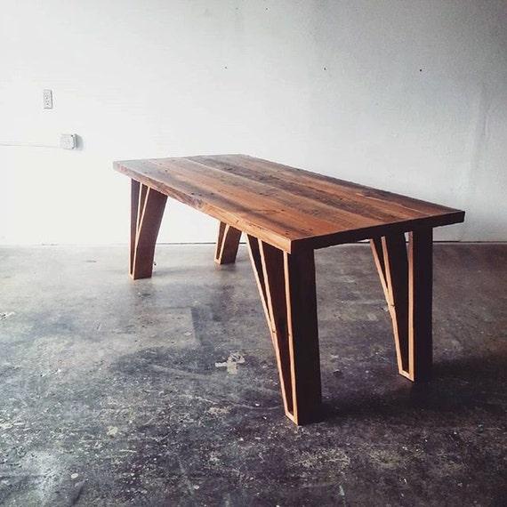 Reclaimed Wood Dining Table Modern Industrial Desk By WeareMFEO