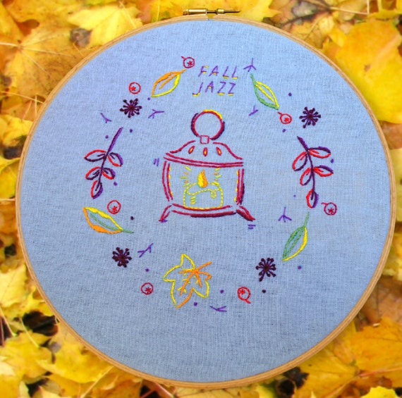 Hand embroidery patterns diy craft projects fall