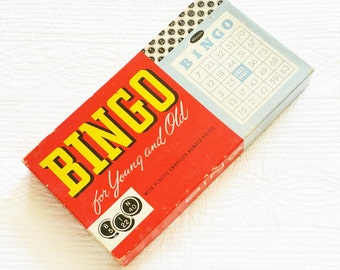 Vintage Mid-Century Bingo for Young and Old, Vintage Games, Olives and Doves