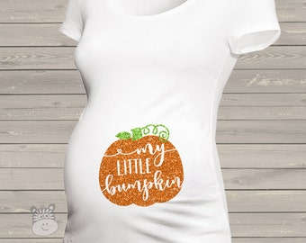 Fall pumpkin little bumpkin glitter maternity top - perfect for Halloween and Thanksgiving GPBM