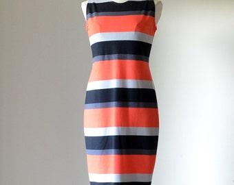 SALE 50% off Regular Price-Striped Sheath Dress