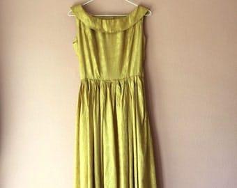 40s gold brocade dress / xs – s