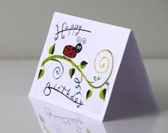 Birthday card Children birthday card kids cards baby birthday cards - happy birthday card - cute birthday card - Girls boys birthday card