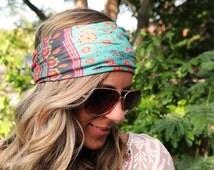 Buy 2 get 1 FREE!! Yoga Headband,  Hibiscus, Coachella,  Workout Headband, Best selling item, Running Headband