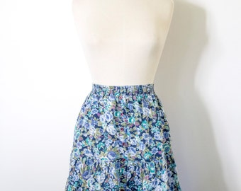 "CLEARENCE>>> Vintage 1990s ""Notorious"" High Waisted Floral Skirt"