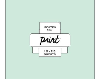 Printing Services - Invites - 10-25
