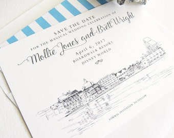 Boardwalk Resort Save the Dates, Orlando, Disney Save the Date, Fairytale Wedding, Destination Wedding, Save the Date Cards (25 cards)