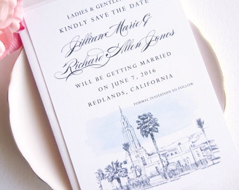 Redlands Mormon Temple LDS Save the Date Cards (set of 25 cards)