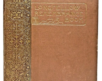 Longfellow Remembrance Book Poetry Poems 1888