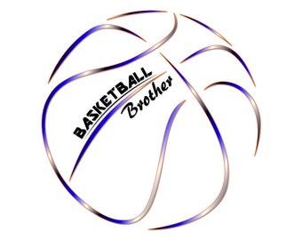 Basketball svg, svg file for cricut, cricut download, basketball clipart, basketball brother svg, basketball monogram, svg basketball, BK7