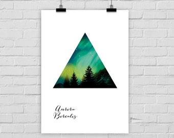 print poster AURORA BOREALIS