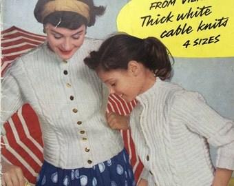 Stitchcraft July 1958 vintage magazine knitting crochet patterns 1950's