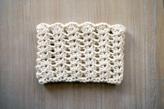 Crochet Lace Pattern For Beginners : Summer sale Beginners crochet pattern, easy crochet cowl ...