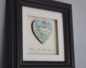 3D Personalised Artwork *Where It All Began* Romantic Gift for Engagement , Wedding, or Anniversary