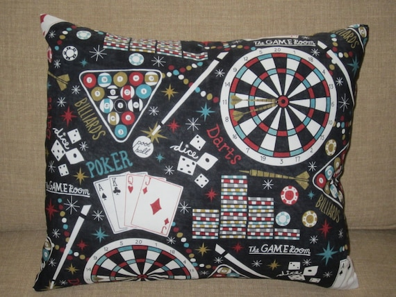 Man Cave Pillow With Cup Holder : Game room pillow man cave poker billards