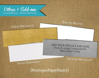 Custom Cigar Bands,Belly Bands,Made to Match Wedding Stationery,Wraps Around Invitation and Enclosures