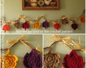 Crochet maple leaf garland,Maple leaf garland,Maple leaf bunting,Fall leaves garland,Maple leaf bunting,Maple leaves,Fall leaves,31.97