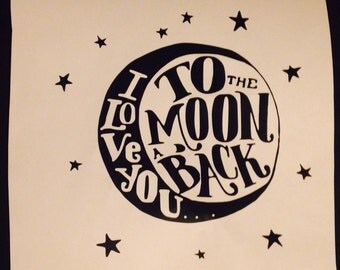 I Love You To The Moon And Back decal  #YetiCup #Car Decal #Child decor