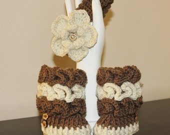 Ruffle Baby Booties set