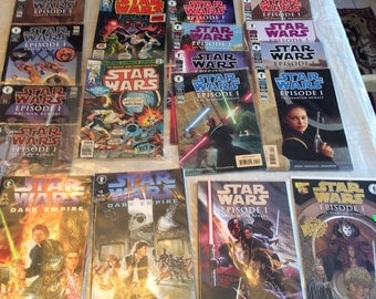 Star Wars - Lot of Comic Books - Marvel Comics and Dark Horse