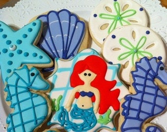 Custom Under the Sea Sugar Cookies