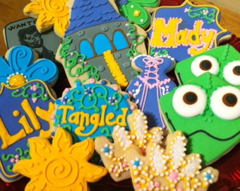 Custom Tangled Sugar Cookies