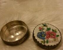 Vintage Pocket Mirror and Storage
