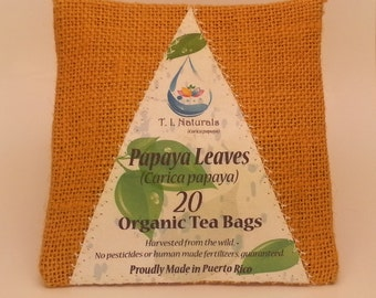 Papaya Leaf Tea (Carica papaya) 20 Servings