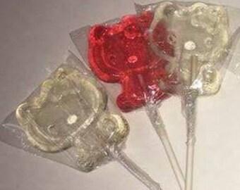 12 hello kitty shaped Lollipops