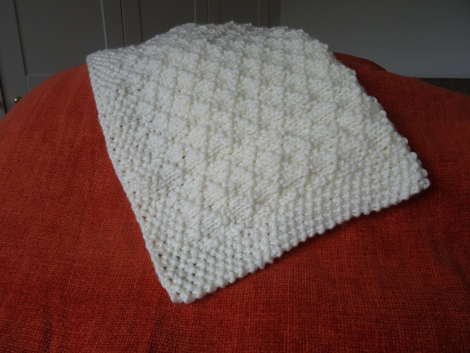 Chunky Knitted Baby Blankets Baby blanket easy knit...
